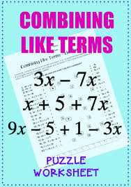 Combining Like terms activity for algebra or pre-algebra review ...