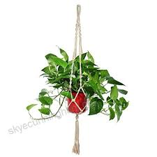 nablue plant hanger flower pot plant holder for indoor outdoor decorations large 4 legs styleb