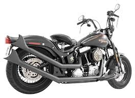 freedom performance upswept exhaust for harley softail 1986 2017