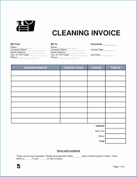 House Cleaning Template Free Stylish House Cleaning Invoice Template Free For Additional