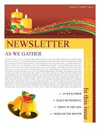 Word Templates For Newsletters Christmas Newsletter Template Holiday Greetings Email Newsletter