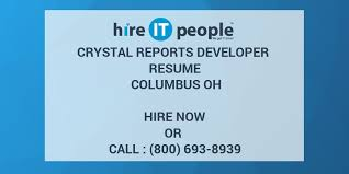 Crystal Reports Developer Resume Columbus OH Hire IT People We Inspiration Crystal Reports Developer Resume