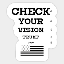 Picture Vision Chart Trump 2020 Flag Check Your Vision Chart