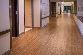 medical facility vinyl plank hallway