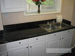 black tile kitchen countertops. Granite Countertop Kitchen - Black Galaxy | By Builddirect2000 Tile Countertops A
