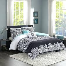 motocross comforter set black white teal blue medallion scroll teen bedding twin full queen king