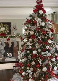 White Silver Christmas Decorating Theme red silver and white christmas  decorations 27 best christmas red interior decor home