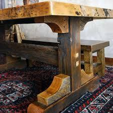 elegant rustic furniture. modren elegant images of rustic dining tables  black mountain reclaimed rustic trestle  dining table  nc to elegant furniture