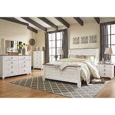 Little Dreamer Willowton 4 Piece Queen Bedroom Set In Whitewash ...