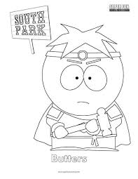 Butters South Park Coloring Page Super Fun Coloring