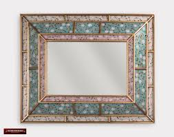 peruvian wall accent mirror turquoise