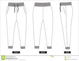 Shorts Design Template Design Vector Template Pants Collection For Men Stock Vector