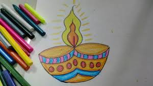 Easy And Colourful Diwali Diya Drawing For Kids How To Craftlas