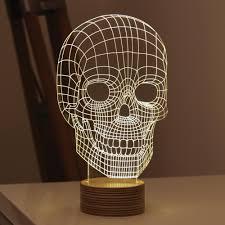 Skull Bedroom Aliexpresscom Buy 1pcs Acrylic 3d Table Lamp Baymax Luminaria