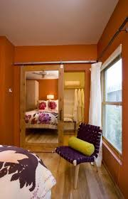 Orange Paint Colors For Bedrooms Orange Paint Colors For Small Bedrooms Wth Mirror Door Closet