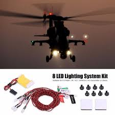 Helicopter Red Green Lights 3pcs Set Rc Led Light Kit For Car Helicopter Airplane