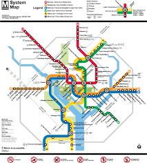 """official map washington dc metro """"rush"""" system  transit maps"""