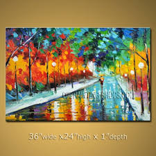 large wall paintingsColorful Large Wall Art For Office Decor Impressionist Palette