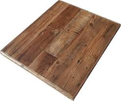 more affordable reclaimed wood table top collections