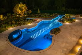 cool shaped swimming pools. View In Gallery Award Winning Stradivarius Violin Pool Cipriano Landscape Design 2 Blue Lights Thumb 630xauto 32166 Custom Swimming Cool Shaped Pools B