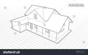 architectural drawings of modern houses. Perfect Modern Architectural Drawings Of Modern Houses House Building Vector  3d Illustration Inside Architectural Drawings Of Modern Houses A