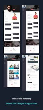Resume Website Template Free Personal CVResume Web Template PSDboom 82