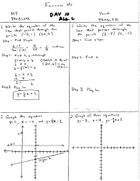 breathtaking algebra 2 mr hopkins ezmath 123 graphing linear equations functions worksheet warm up day 11