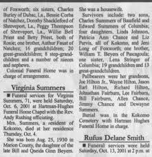Obituary Virginia Summers - Newspapers.com