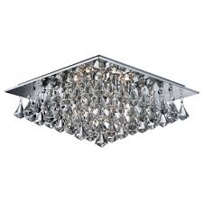 hanna 6 square light diamond crystals chrome