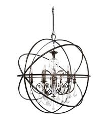 visual comfort e f 6 light inch bronze chandelier ceiling vineyard oil rubbed chandeliers