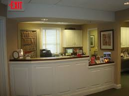 Dental office front desk design Front Counter Front Desk Douglas Goff Dds Office Tour Fredericksburg Va Dental Office Photos