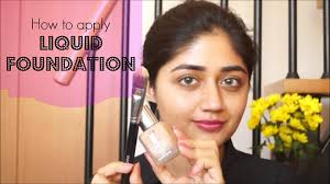 video tutorial how to apply liquid foundation