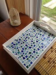 My successful Pinterest craft/ mosaic tray I made (: