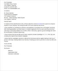 cover letter for engineering job sample software engineer cover letter 8 examples in word pdf