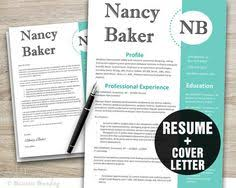 Resume And Cover Letter Design Template Microsoft Word Editable