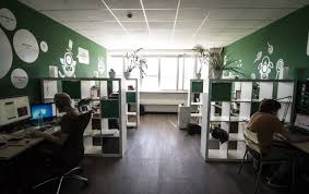 home office green themes decorating. exellent office green themes decorating design for work space office joshta home  fascinating dark finish stained plastering  with a