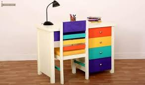 kids study furniture. Pixie Kids Study Table With Drawers (White Finish)-1 Furniture K