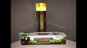 Minecraft Light Up Torch Uk Minecraft Monday Minecraft Light Up Torch From Think Geek Kids Station