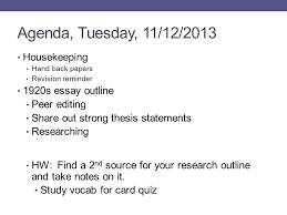 us history unit week ppt video online  agenda tuesday 11 12 2013 housekeeping 1920s essay outline