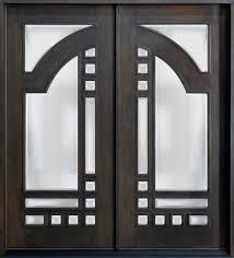 Custom Black Solid Wood Double Swing Door Panel With Glazing And ...
