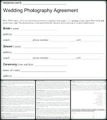 Wedding Photography Contract Template Uk Free Agreement Contracts
