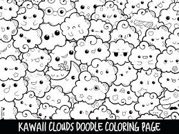 Rain Cloud Colouring Pages Images Of Clouds Coloring Different Types