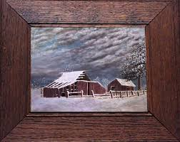 oil painting the old barn