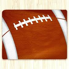 custom football area rug personalized team colors brown and white large field