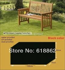 outdoor furniture cover. Two Seaters Benches Cover,protective Cover For Wooden Chair,135x70x100cm Black Garden Furniture Outdoor T