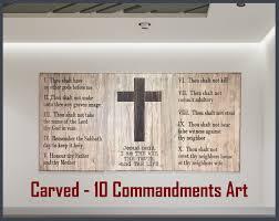 the 10 commandments wall art wood church decor religious