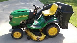 deere l120 lawn tractor deere l120 lawn mower w bagger