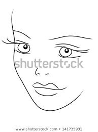 Cute Girls Face Stock Illustration 141735931 Shutterstock