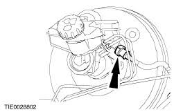 ford workshop manuals > fiesta > mechanical connect the clutch master cylinder supply hose to the brake fluid reservoir