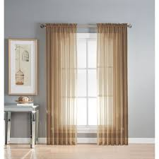 window elements diamond sheer voile 56 x 95 in rod pocket curtain panel 56